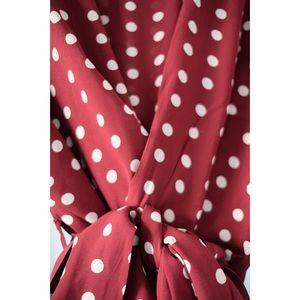 Zara Tops - Zara Polka Dot Wrap Shirt